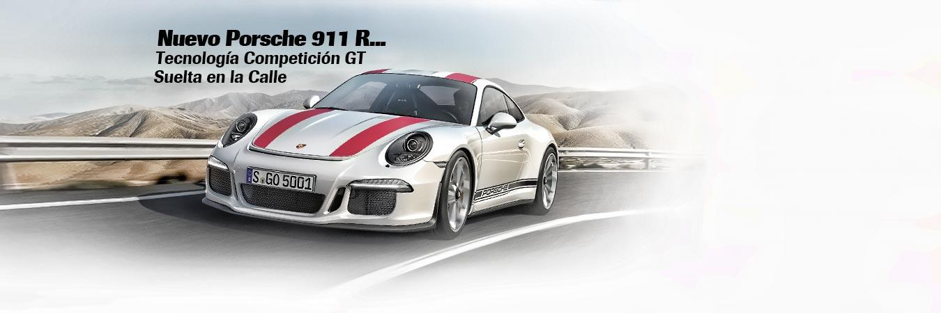 Nuevo Porsche 911 R Tecnologia Competicion GT Suelta en la Calle - MAKINAS-SC