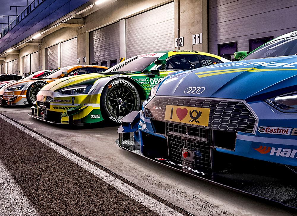 Los Audi RS 5 DTM en Formaciónpara el 2017