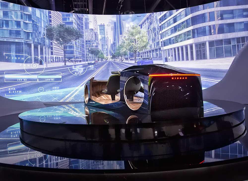 Tecnología Invisible-to-Visible de Nissan Impresiona el CES 2019