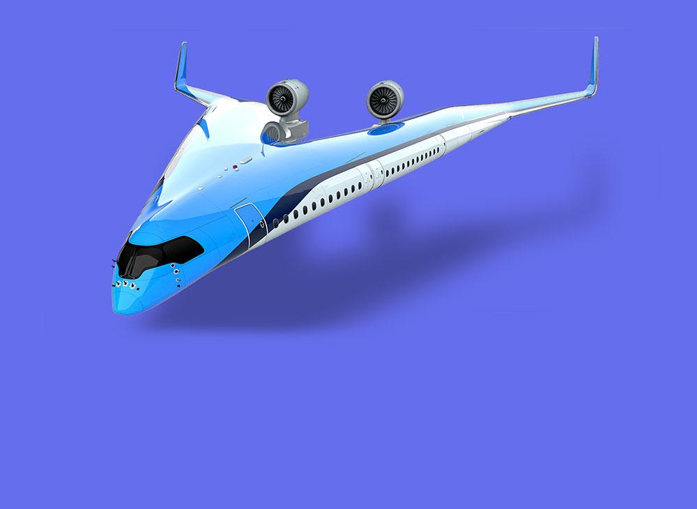 """La """"V Voladora""""… Un Nuevo Concepto de Avión Comercial"""